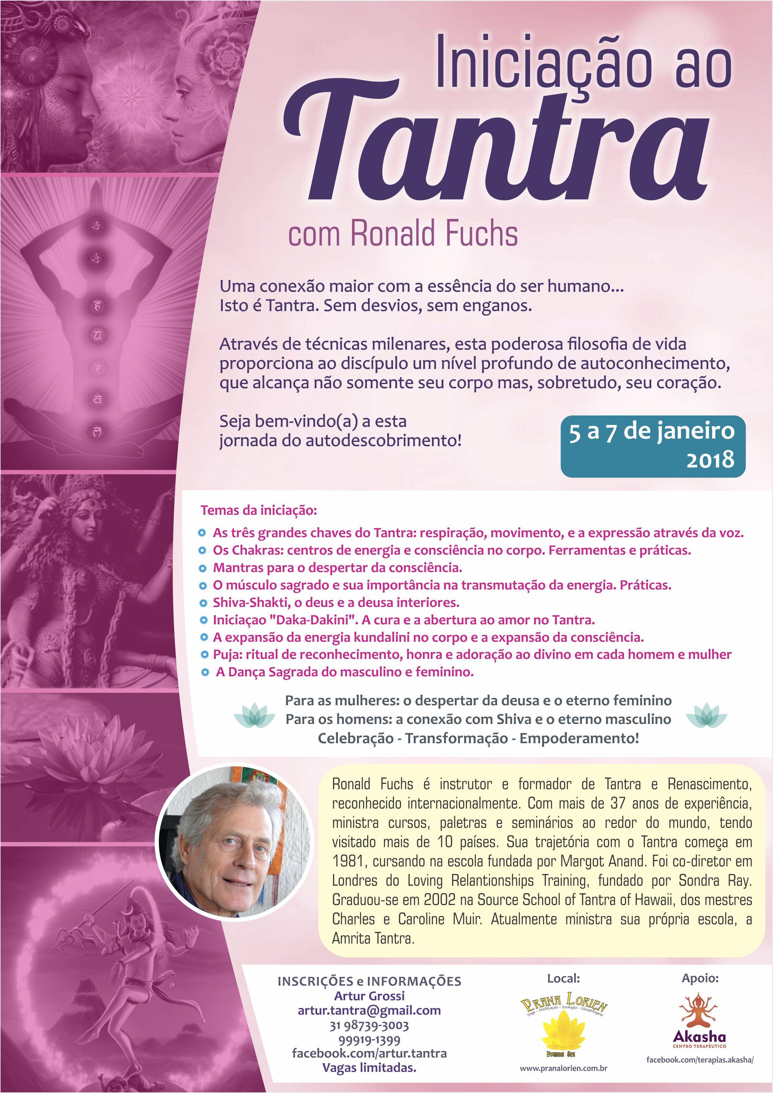 Introduçâo ao Tantra 5 ao 7 Janeiro em Belo Horizonte (Brasil)