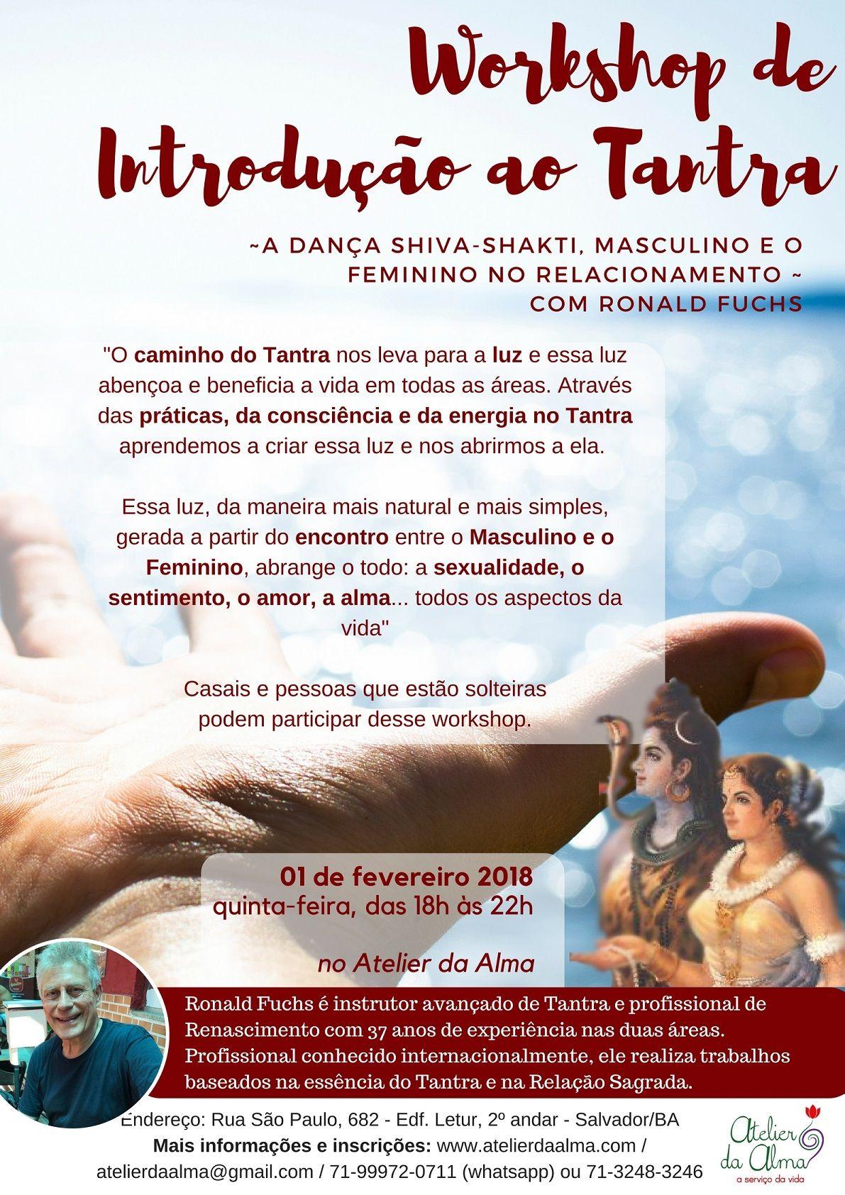 Introduçoã ao Tantra 1 de Fevereiro en Salvador de Bahía (Brasil)