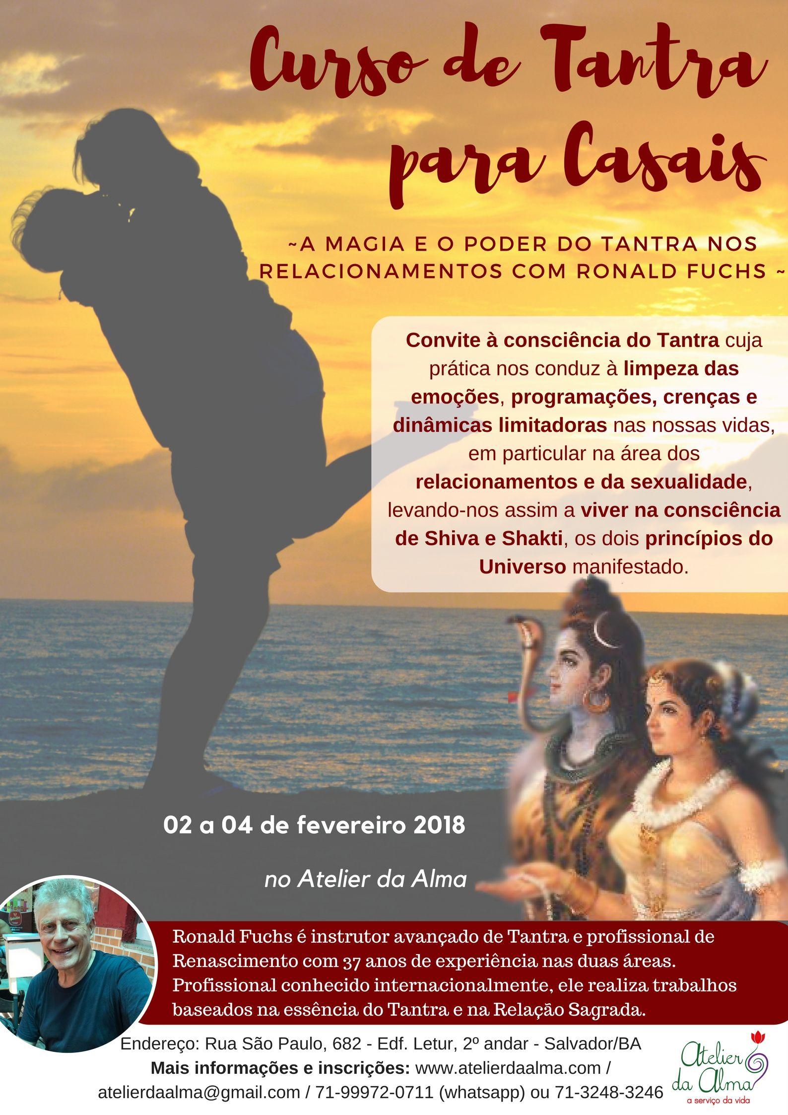 Curso de Tantra para Casais 2 a 4 de Fevereiro en Salvador de Bahía (Brasil)