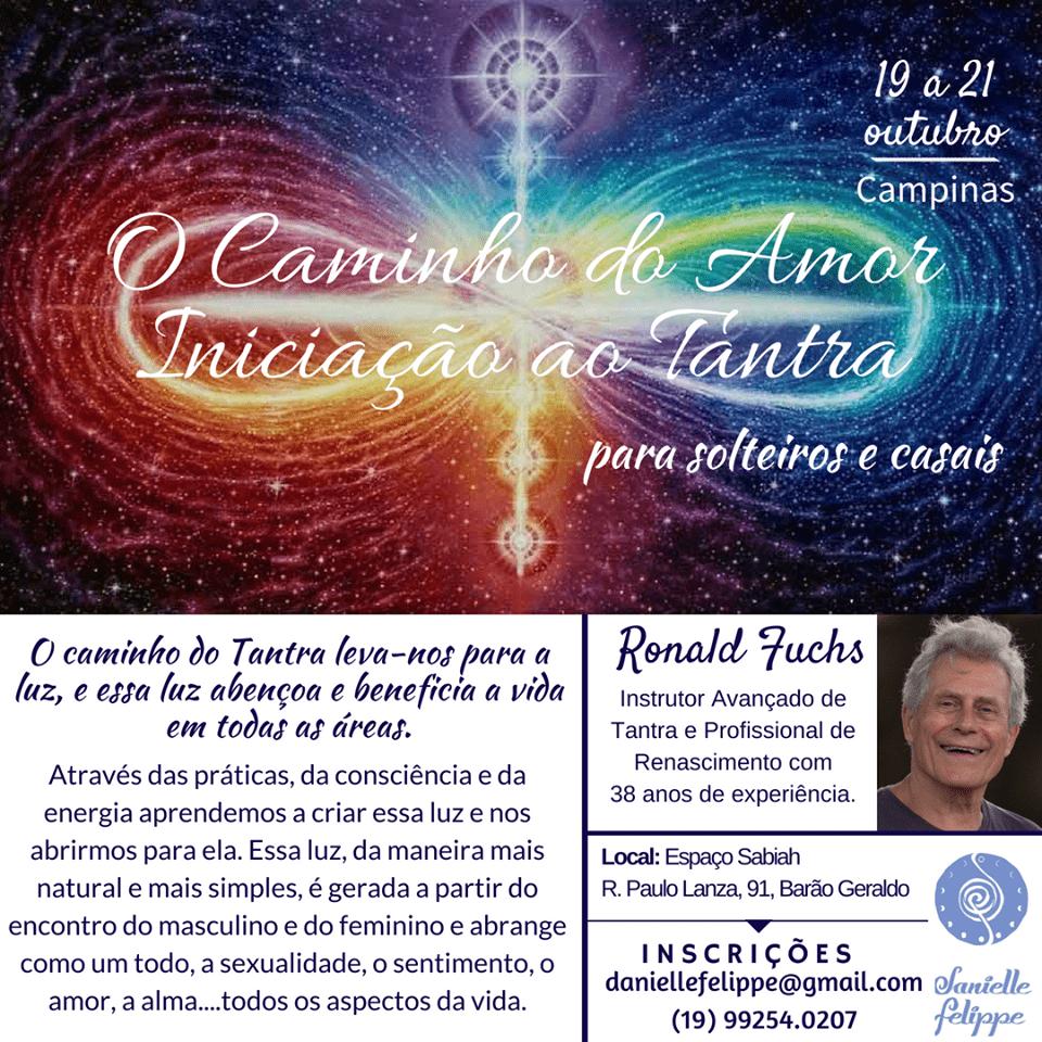Iniciação ao Tantra 19 a 21 Outubro Campinas (Brasil)