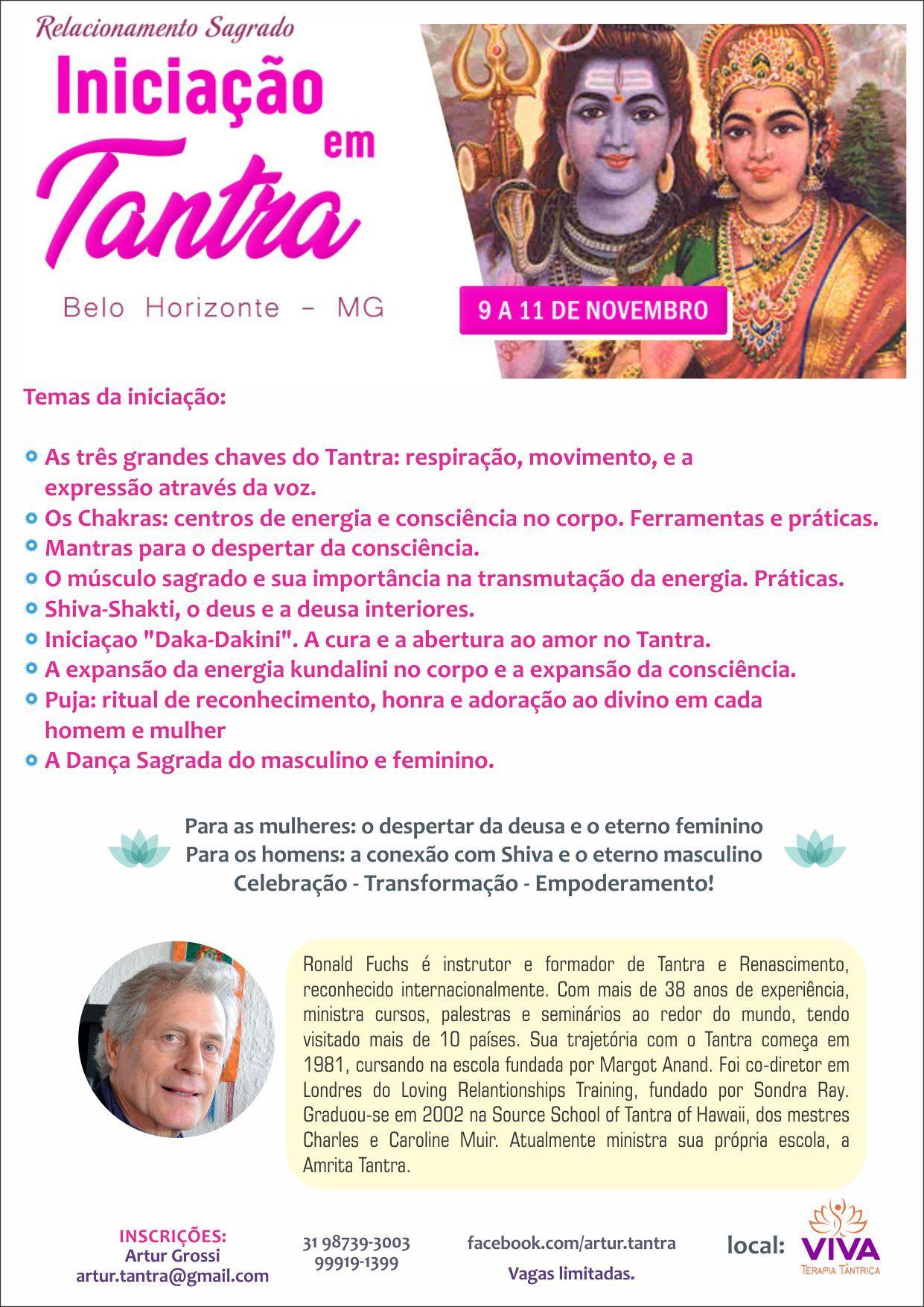 Introdução ao Tantra 9 a 11 Novembro Belo Horizonte (Brasil)