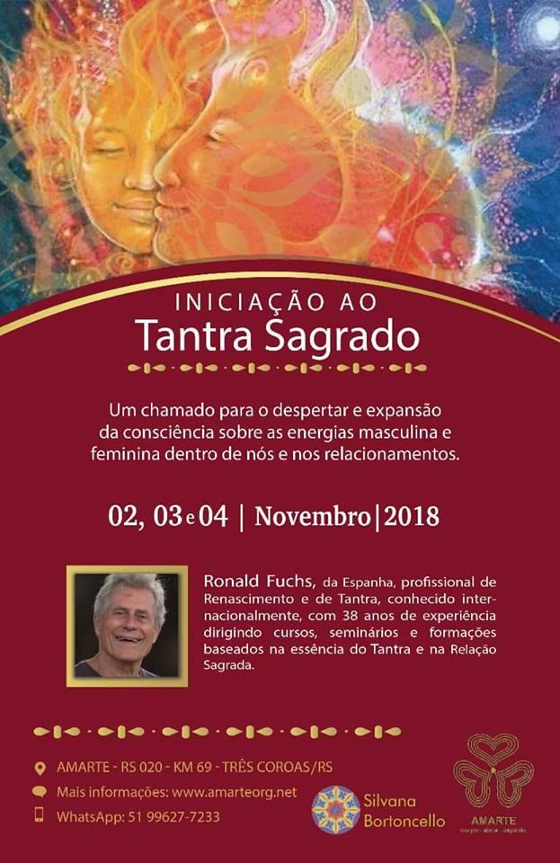 Iniciación al Tantra 2 al 4 de Noviembre Tres Coronas RS (Brasil)