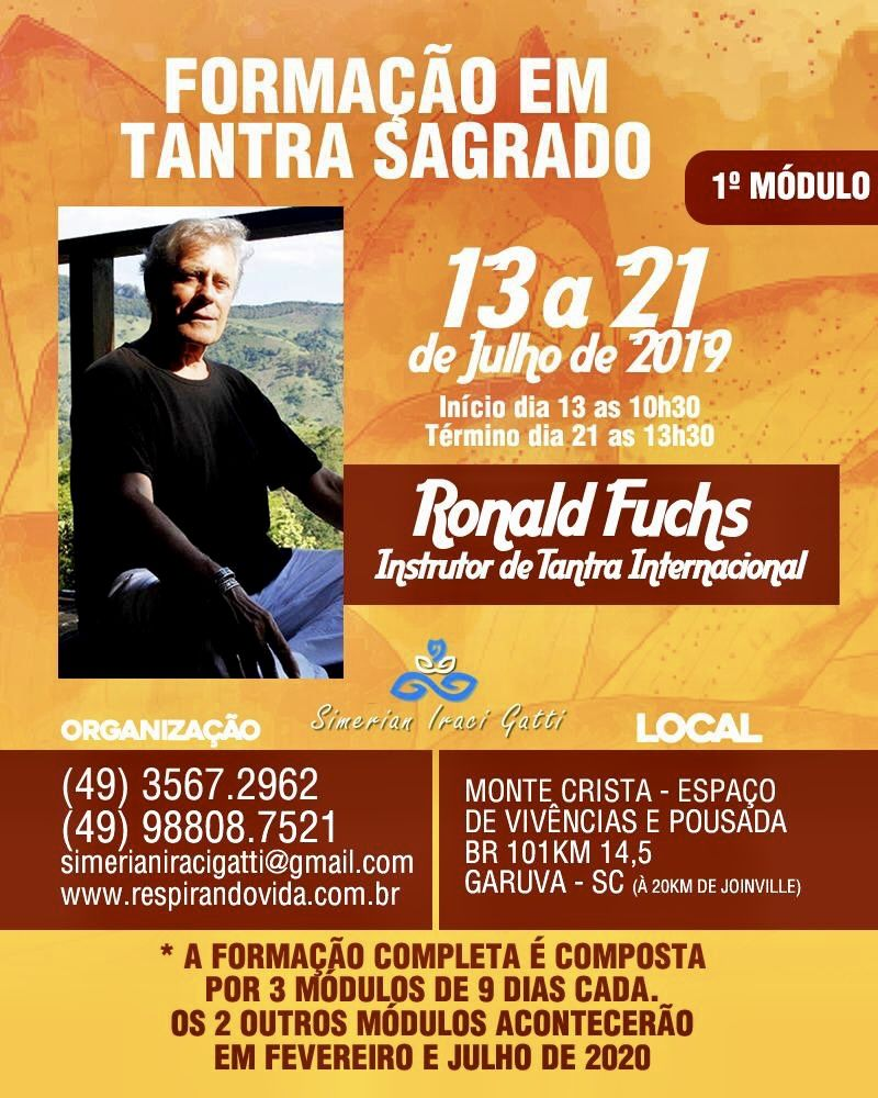 Formação em Tantra Sagrado do 13 ao 21 de Julho Garuva (Brasil)