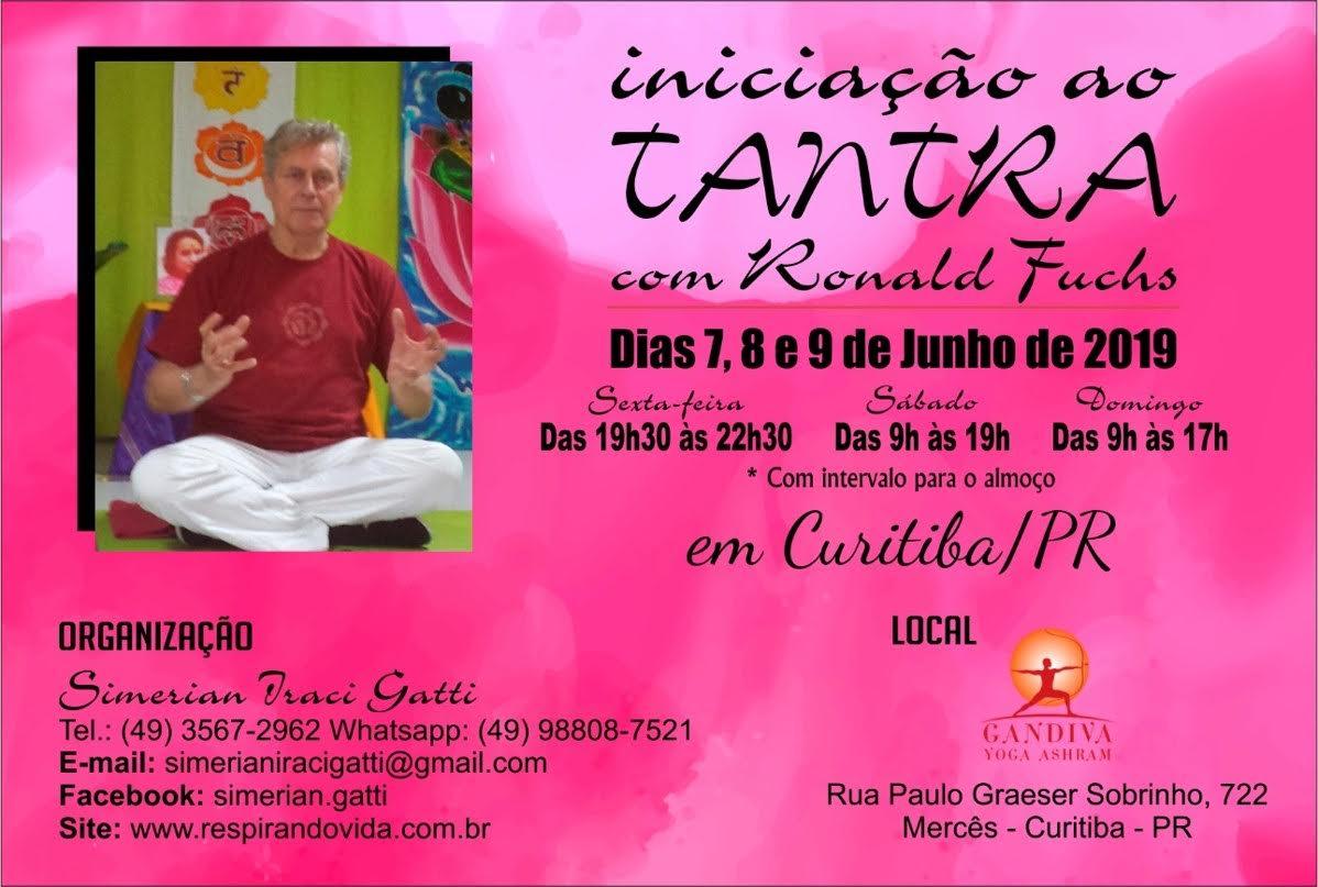 Iniciação ao Tantra7, 8 e 9 de Junho em Curitiba/PR (Brasil)