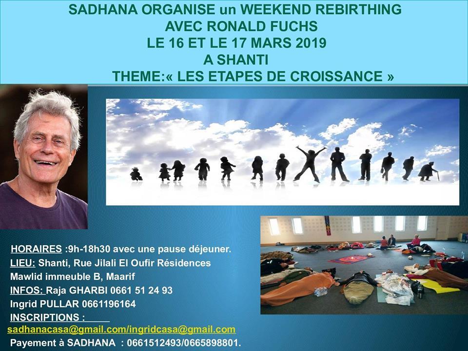Rebirthing - Renacimiento 16 y 17 de Marzo en Casablanca