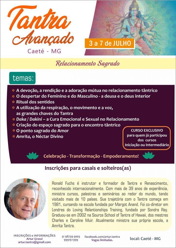 Tantra Avançado 3 a 7 de Julho Belo Horizonte (Brasil)