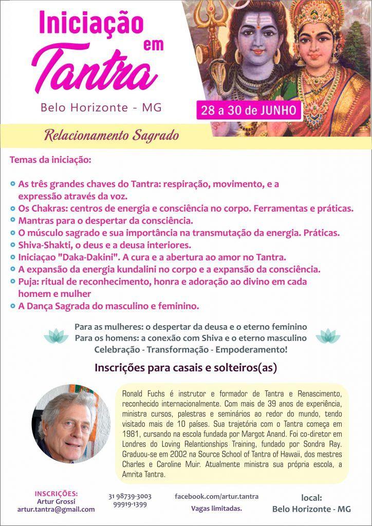 Introdução ao Tantra 28 a 30 Junho Belo Horizonte (Brasil)