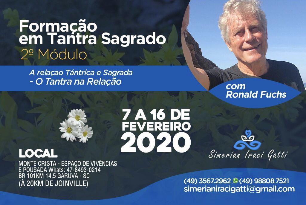 Formação em Tantra Sagrado, 2º Módulo do 7 a 16 de Fevereiro Garuva (Brasil)